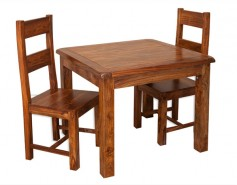 Vellar Wooden Dining Collection (IF) (Fixed Table and 2 Chairs Chairs) Image