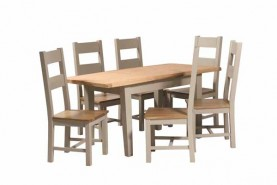 Brisbane Truffle Dining Collection (IF) (Extending Table & 4 Chairs Chairs) Image